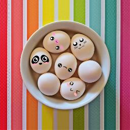 freetoedit egg cute animal cuteface emoji