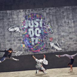 art graffiti dancers hiphop gimnastics freetoedit