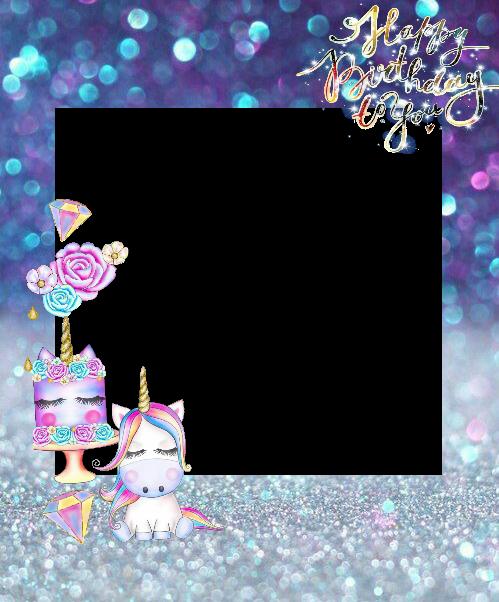 frame pictureframe unicorn unicornio unicorncolors unic...
