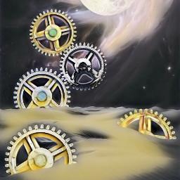 freetoedit vipshoutout gears space galaxy