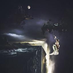 edgeoftheworld surreal fantasy floatingislands otherworldly freetoedit