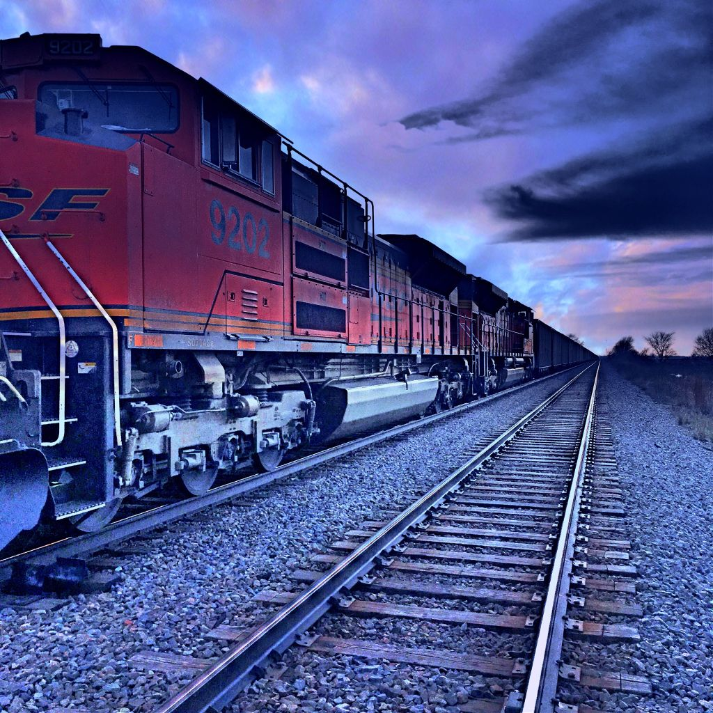 Photo By Roger Burgland Edit By Me Train Tracks