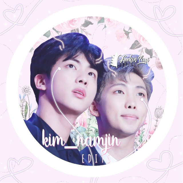 Namjin icon for @kim_namjin ~ I hope that you like it sweetie!! 🙈💕💖😊  ~ Requests Open 💕 ~   I do not own any of the flower stickers 💖  #kimnamjoon #kimseokjin #namjoon #jin #rm #bts #btsedit #kpop #kpopedit #edit #btsarmy #army #they #are #aliens #in #love #do #you #see #the #strings #im #so #cleversksks #HAa #cri