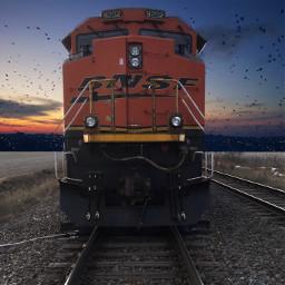 train blackandwhitephotography splash freetoedit