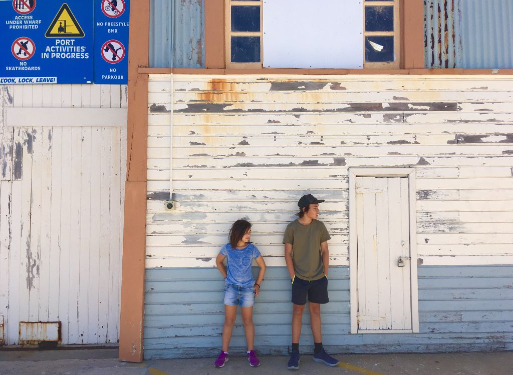 Really love the colour of this old docks building at Fremantle. #docks #building #fremantle #westaustralia #children