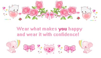 wear happy confidence pink white
