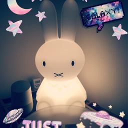 freetoedit miffy cute lamp fluffy