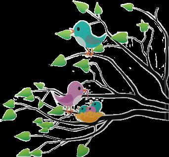 ##birds #tree #colors #rainbow
