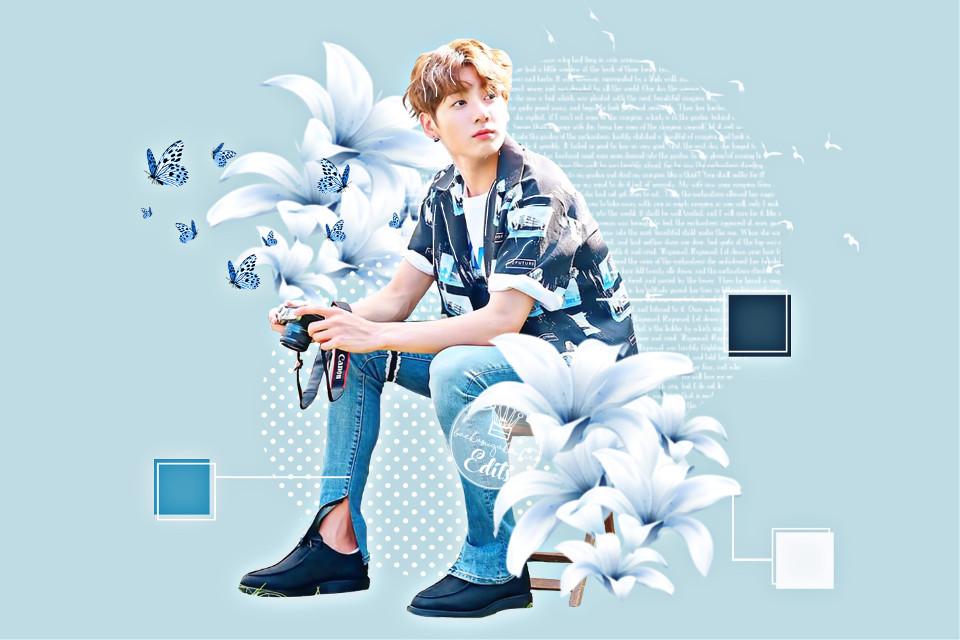 Here's light blue Jungkookie! How's everyone doing? #freetoedit #jungkook #bts #btsjungkook #jk #btsjk #blue #flowers #palette Entry for @actually_jungshook 's contest #actuallyjungshookbluecontest !