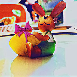 froheostern rabbit cute colorful mypic