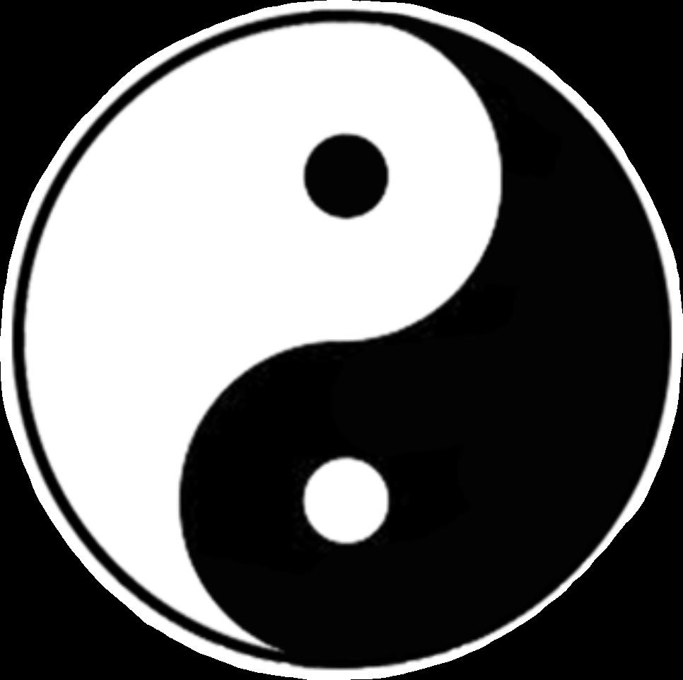 Yinyang tumblr stickers blackandwhite namaste simbolo neutral balance