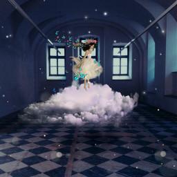 freetoedit remix nuvem stars girls