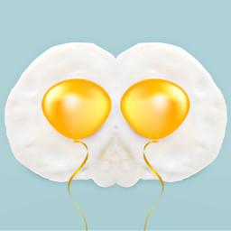 freetoedit balloon fired egg yolk