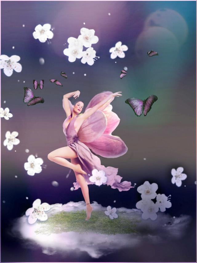 #freetoedit #doubleexposure #springbrush #blossoms #dancer #clouds #brushes Op @lemon9128  @karahzap @silverbullet420