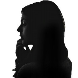 freetoedit picsart portrait silohuette blackandwhite