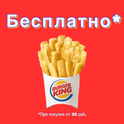 бургеркинг burgerking fries free