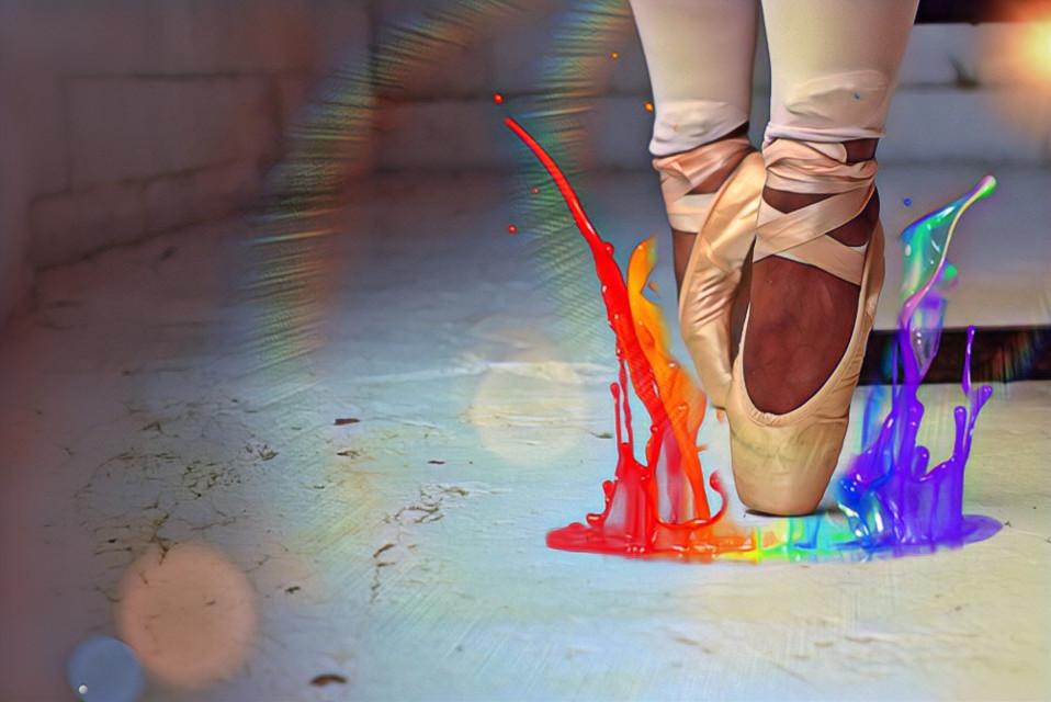 🌈🌈 Rainbow 🌈🌈 #freetoedit #edit #rainbow #dance #ballet
