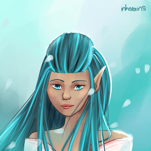 Colored a sketch that I liked #myart2018 #original #blue #elf #digitalart