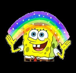 spongebob imagination rainbow meme tumblr freetoedit