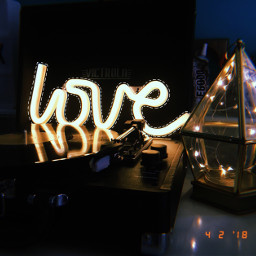 light neon love vinyl record freetoedit