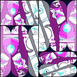 freetoedit crisscross scissors collage shredded