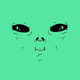 green blackeyes piercing greenalien pcgreen