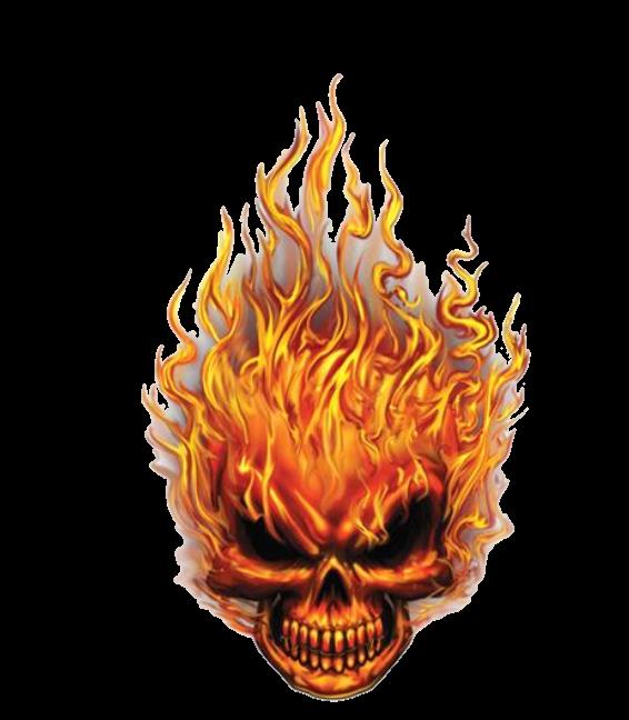skulls skull fire sticker by jessica knable