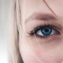 freetoedit girl eye blueeye natural