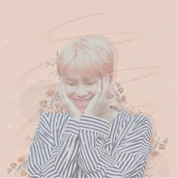 bts namjoon kpop bangtanboys bangtansonyeondan btsarmy army pink peach rm rapmon