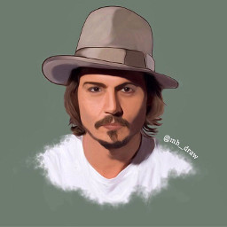 johnnydepp interesting art drawing artistic freetoedit