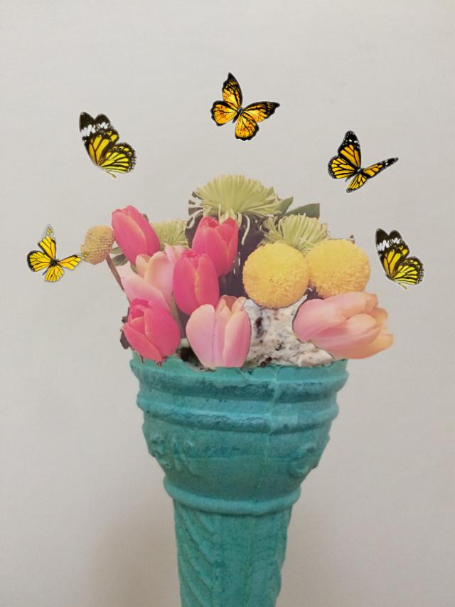 #freetoedit #butterfly #icecream #flower