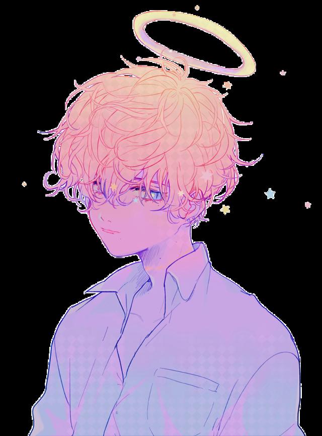 #sticker #anime #aesthetic #rainbow #sad #pastel #japan #boy #white #beautiful #animeboy #art #freetoedit
