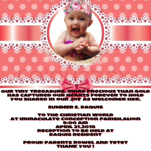 baby summer invitation 😍