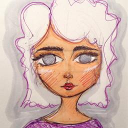 art sketch doodle purple copicmarkers copic