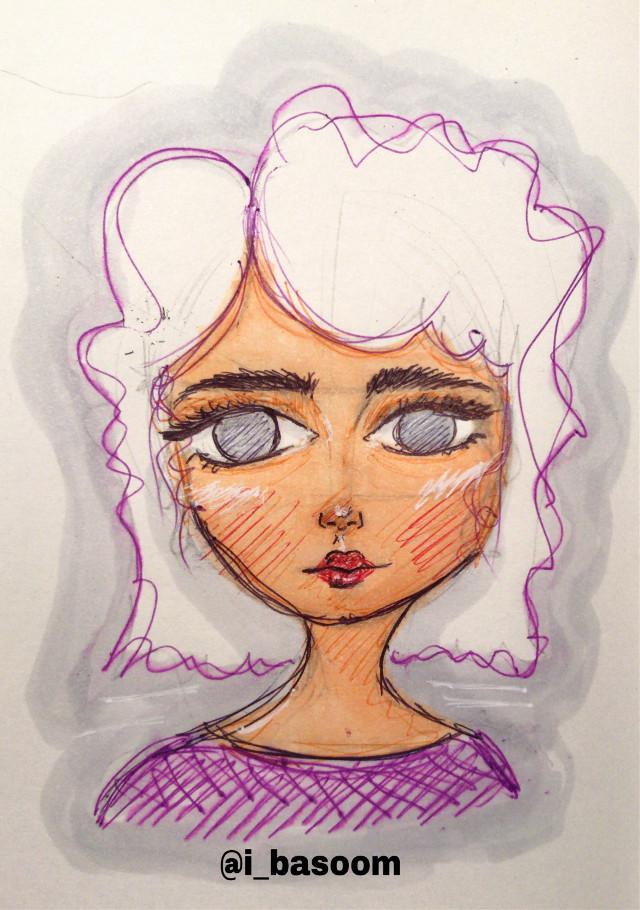 New sketch #art #sketch #doodle #purple #copicmarkers #copic