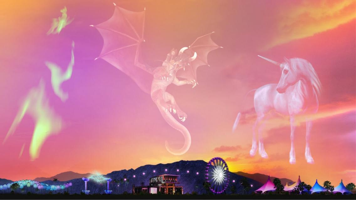 #freetoedit #aurora #dragon #unicorn @loveisintheair265
