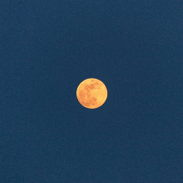 photography photo moon astrophotography yellow freetoedit