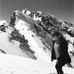 nature snow hiking weekendtrip blackandwhite