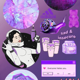 freetoedit purple space rose galaxy