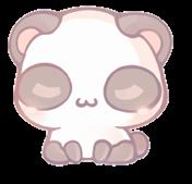 cute soft panda bear kawaii freetoedit
