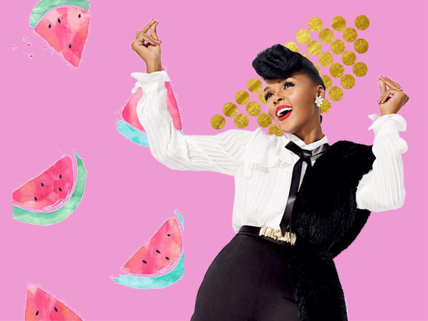 #freetoedit 👉🏼 #JanelleMonae #PYNK #NewSingle #Watermelon #Gold #Pink ✨ @pa