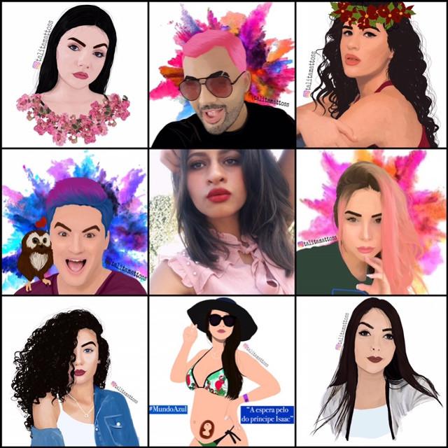 Meu #artvsartist, uma foto minha + alguns dos desenhos que fiz que mais gosto ❤️❤️❤️❤️❤️❤️ My #artvsartist, a picture of me + some of the drawings I made that I like the most