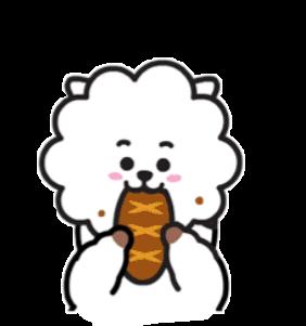 Bts Bt21 Jin Rjbt21 Sticker By Jeon Jungkook
