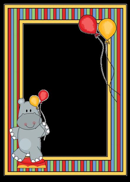 frame circus hippo freetoedit - Sticker by Salulilbug