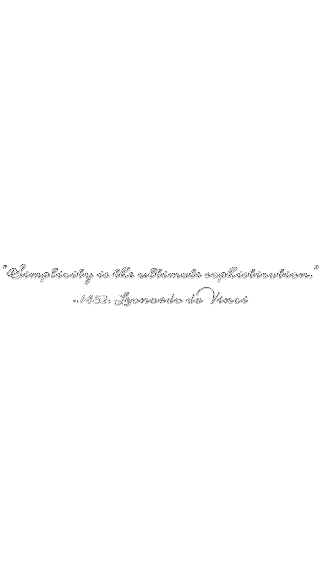 #daVinci #simplicity #minimalism #freetoedit
