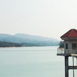 calm serene water lighthouse freetoedit
