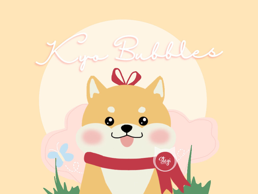 Here's to the first place winner of my last contest @mytaetae_ Congratulations! 🎉   Now let's welcome Kyo to the Steyi studio family (collection) yaaayy!!  Name : Kyo Bubbles Sex : Female DOB : 041918 Dog Breed : Shiba Inu  Kyo is an adventurous puppy. She loves going out and playing with the butterflies (More information will be added later...)  I hope you like it! I can't draw well 😅 Had a little help with refrences and stuff  *I still need to outline the puppy, but I was too impatient and wanted to post it right away lol  #myedit #mydrawing #edit #drawing #digitalart #digitaldrawing #oc #shibainu #dog