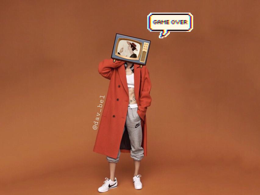 #freetoedit #boy #orange #tv #coat #model