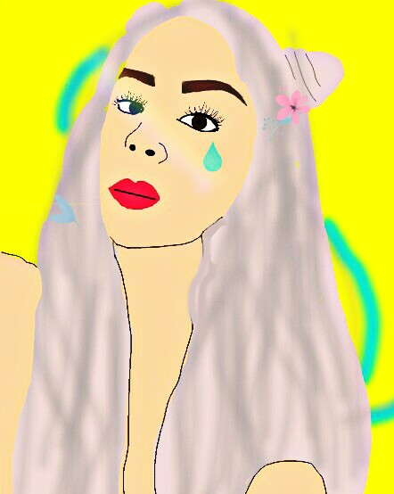 So iam still learning to improve 😅❤   #arianagrande #digtialdrawing #mydrawing #rainbow #tears  #freetoedit    If you have any tips on how can I  improve on my drawing please feel free to tell me