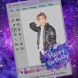 freetoedit luhan exo exoluhan happybirthday galaxy purple paint FozIrshiFam OldSoulsFam